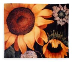 Sunflowers And More Sunflowers Fleece Blanket