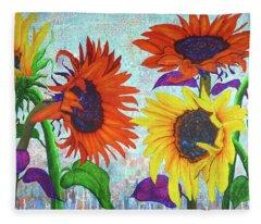 Sunflowers For Elise Fleece Blanket