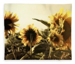 Sunflowers In Tone Fleece Blanket