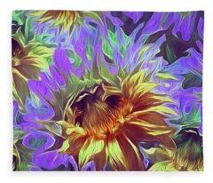 Sunflowers Rising 29  Fleece Blanket