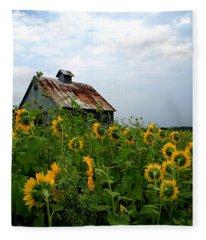 Sunflowers Rt 6 Fleece Blanket