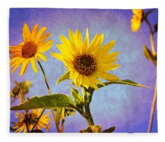Sunflowers - The Arrival Fleece Blanket