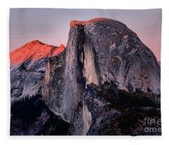 Sunkiss On Half Dome Fleece Blanket