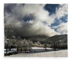 Sunlight Clouds And Snow Fleece Blanket