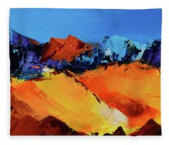 Sunlight In The Valley Fleece Blanket