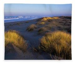 Sunlight On The Beach Grass Fleece Blanket
