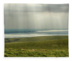 Sunlight On The Irish Coast Fleece Blanket
