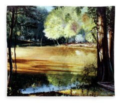 Sunlight On Village Creek Fleece Blanket