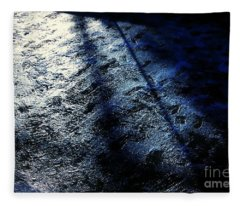 Sunlight Shadows On Ice - Abstract Fleece Blanket
