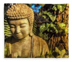 Sunlit Buddha 2015 Fleece Blanket