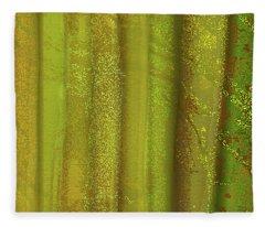 Sunlit Fall Forest Fleece Blanket