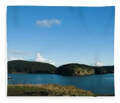 Sunny Day At Bowman Bay Park Fleece Blanket