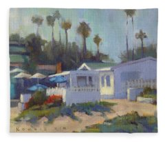 Sunny Day At Crystal Cove Fleece Blanket