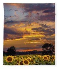 Sunny Day Done Fleece Blanket