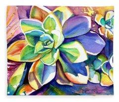Sunny Day Succulent Fleece Blanket