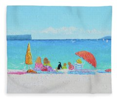 Sunny Days At Hyams Beach Jervis Bay  Fleece Blanket