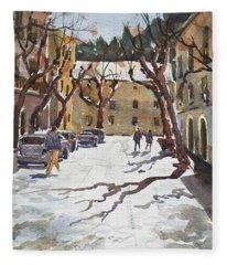 Sunny Street, Valledemossa Fleece Blanket