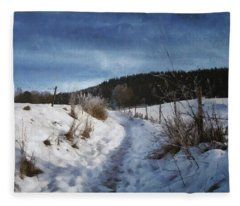 Sunny Sunday Walk Fleece Blanket