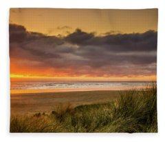 Sunrays Over Manzanita Fleece Blanket