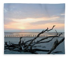 Sunrise @ Pea Island Fleece Blanket