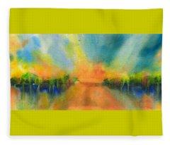 Sunrise Abstract 5 Fleece Blanket