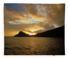 Sunrise Aburatsu Japan Fleece Blanket