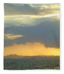 Sunrise After The Typhoon Fleece Blanket