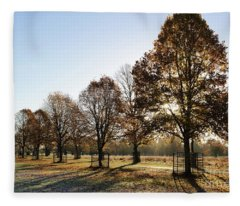 Sunrise And Long Shadows Fleece Blanket