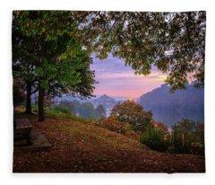 Sunrise At River Rd  Fleece Blanket