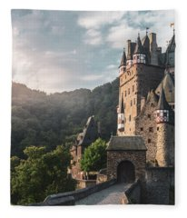 Sunrise At Castle Eltz, Germany Fleece Blanket