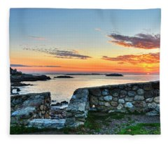 Sunrise At Castle Rock Marblehead Ma Fleece Blanket