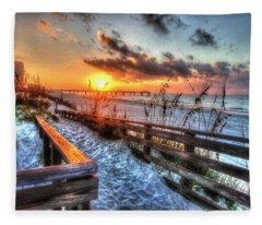 Sunrise At Cotton Bayou  Fleece Blanket