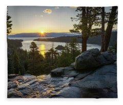 Sunrise At Emerald Bay In Lake Tahoe Fleece Blanket