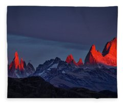 Sunrise At Fitz Roy #2 - Patagonia Fleece Blanket