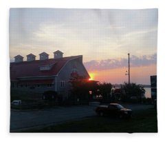 Sunrise At Hooper's Crab House Fleece Blanket
