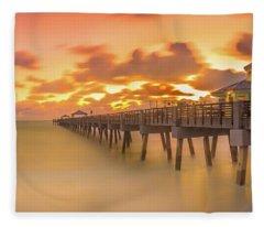 Sunrise At Juno Beach Fleece Blanket