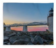 Sunrise At Marshall Point Fleece Blanket