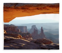 Sunrise At Mesa Arch Fleece Blanket