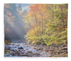 Sunrise At Metcalf Bottoms Fleece Blanket