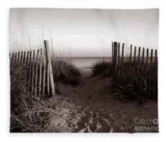 Sunrise At Myrtle Beach Sc Fleece Blanket