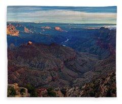 Sunrise At Navajo Point Fleece Blanket