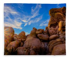 Sunrise At Skull Rock Fleece Blanket