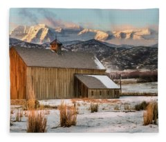 Sunrise At Tate Barn Fleece Blanket