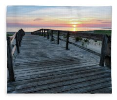 Sunrise Boardwalk, Cranes Beach Fleece Blanket