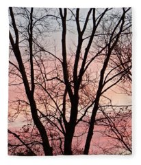 Sunrise Branches Fleece Blanket