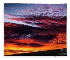 Sunrise Drama West Virginia Fleece Blanket