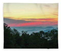 Sunrise From Maggie Valley August 16 2015 Fleece Blanket