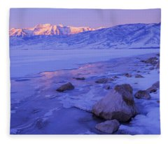 Sunrise Ice Reflection Fleece Blanket