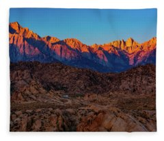Sunrise Illuminating The Sierra Fleece Blanket