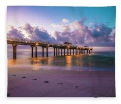 Sunrise In Alabama  Fleece Blanket